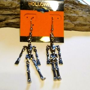 New Silver  Skeleton  Earrings